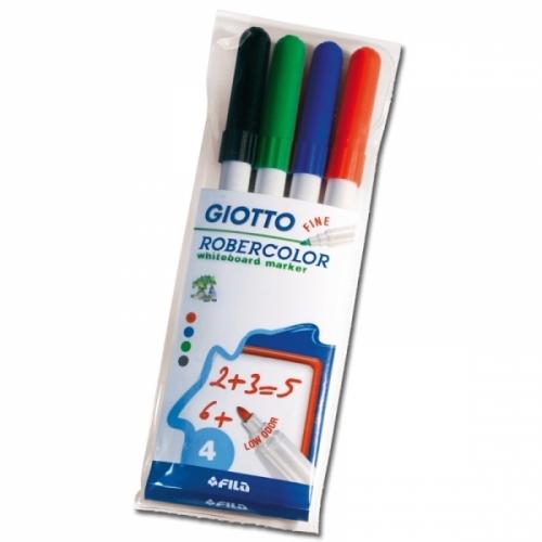 Pochette 4 marqueurs effaçables GIOTTO