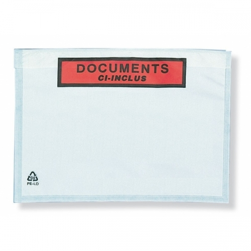 1000 POCHETTES ADHESIVES PORTE-DOCUMENTS EXPEDITION
