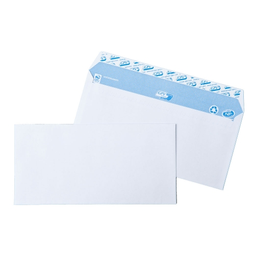 ENVELOPPES COMMERCIALES BLANCHES AUTO-ADHESIVES FSC 90g
