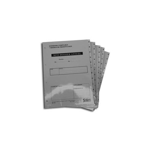 Mini-Dossiers Annuels (Lot de 5 dossiers)