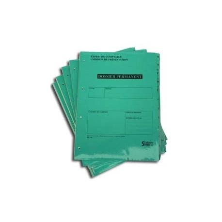 Dossiers Permanents (Lot de 5 dossiers)