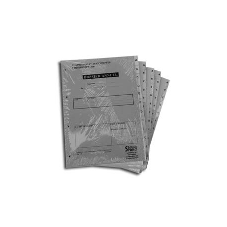 Dossiers Annuels (Lot de 5 dossiers)