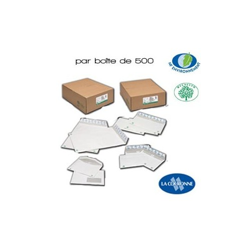 Enveloppes Blanches Supérieures Gamme Recyclée
