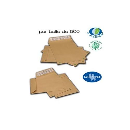 Enveloppes KRAFT Supérieures Gamme Recyclée